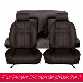 Garnitures de sièges avant et arrière pour Peugeot 504 cabriolet phase 2 et 3