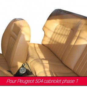 Garnitures de sièges avant et arrière pour Peugeot 504 cabriolet phase 1