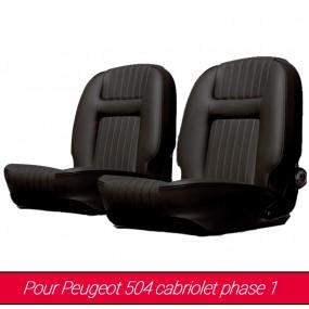 Garnitures de sièges avant pour Peugeot 504 cabriolet phase 1