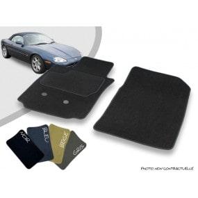 Tapis auto avant sur-mesure Jaguar XK8/XKR cabriolet moquette aiguilletée surjetée