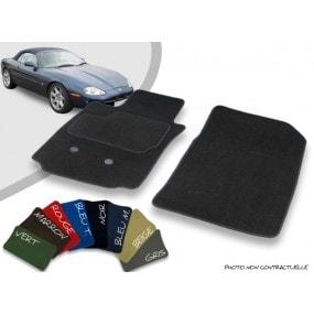 Tapis auto avant sur-mesure Jaguar XK8/XKR cabriolet velours bordé