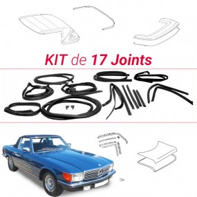 Kit complet de 17 joints Mercedes R107 (380SL & 450SL)