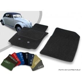 Tapis auto avant sur-mesure Volkswagen Coccinelle 1200 cabriolet (1955-1966) velours bordé