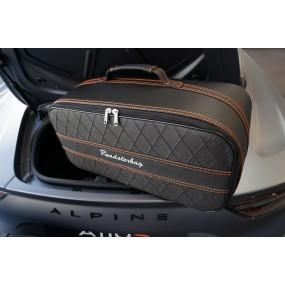 Bagage sur-mesure Alpine A110 (coffre arrière) - coutures oranges