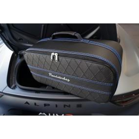 Bagage sur-mesure Alpine A110 (coffre arrière) - coutures bleues