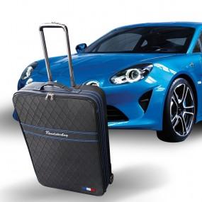 Bagage sur-mesure Alpine A110 (coffre avant) - coutures bleues