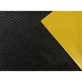 Plaque d'insonorisation en bitume, Vibrogum souple anti-bruit auto-adhésive (20x50cm)