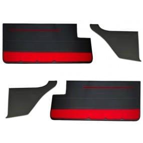 Ensemble de 4 panneaux de porte avant et arrière en simili cuir anthracite pour Peugeot 205 GTI phase 1