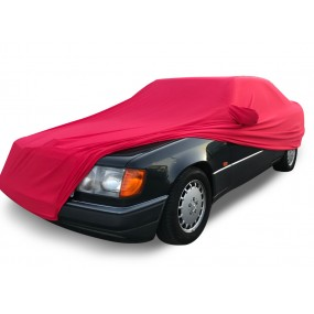 Bâche protection intérieure sur-mesure Mercedes Classe E A124, C124 en Jersey Coverlux - rouge