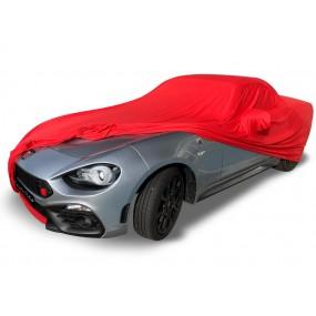 Bâche protection intérieure sur-mesure Fiat 124 Spider en Jersey Coverlux - rouge