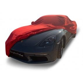 Bâche protection intérieure sur-mesure Porsche Boxster 718 Spider en Jersey Coverlux - rouge