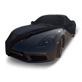 Bâche protection intérieure sur-mesure Porsche Boxster 718 Spider en Jersey Coverlux - noir
