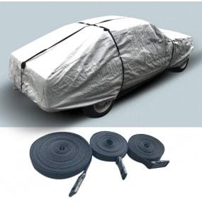 Kit de 3 sangles pour sécuriser une bâche de protection automobile.