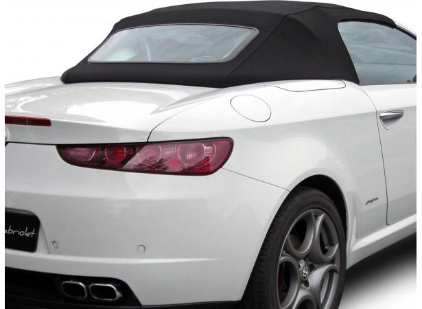 Capotes auto Alfa Romeo Brera Spider cabriolet en Alpaga Twillfast avec lunette arriere en verre avec dégivrage
