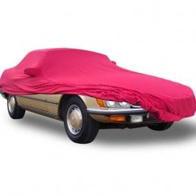 """Bâche protection intérieure sur-mesure Mercedes SL R107 """"US"""" en Jersey Coverlux - rouge"""