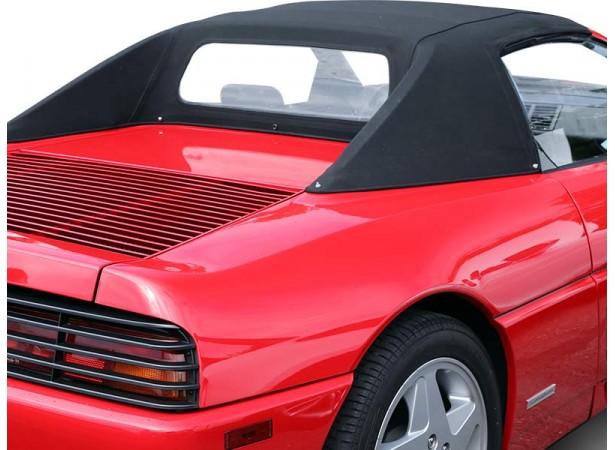 Capote auto Ferrari 348 Spider cabriolet en Alpaga Sonnenland SN avec lunette arrière en PVC