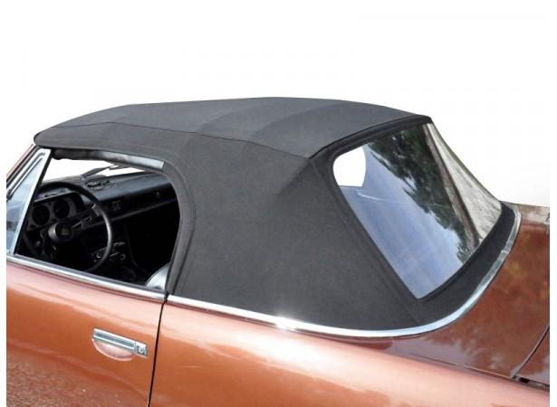 Capote auto Peugeot 504 cabriolet en Alpaga Sonnenland avec lunette arrière en PVC