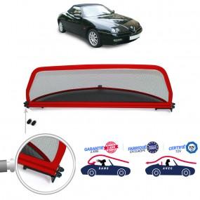 Windschott, filet saute-vent de couleur rouge Alfa Romeo GTV Spider cabriolet