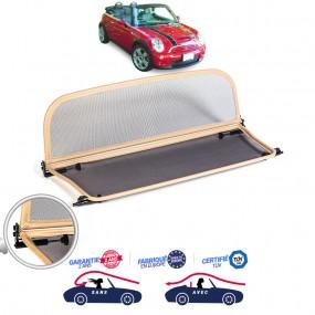 Windschott, filet saute-vent beige, Bmw Mini Cooper R52 cabriolet