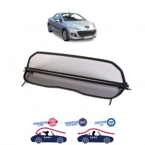 Filet coupe-vent, anti-remous, Windschott Peugeot 207 CC cabriolet