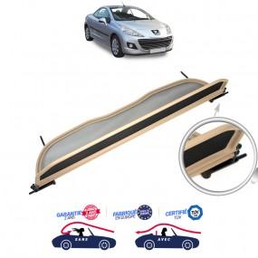 Filet saute-vent, anti-remous, Windschott beige Peugeot 207 CC cabriolet