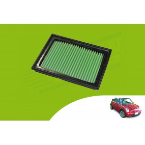 Filtre à air hautes performances GREEN Mini R52 cabriolet