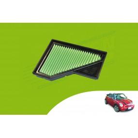 Filtre à air hautes performances GREEN cabriolet Mini R52
