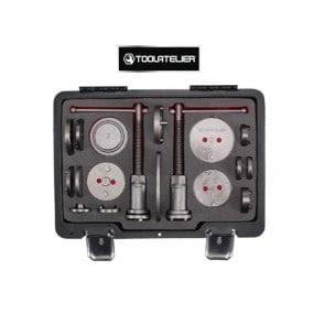 Mallette 18 pièces repousse piston avec adaptateurs multi marques - ToolAtelier®