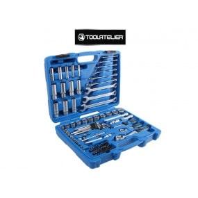 Coffret d'outils : clés à cliquet, douilles, embouts et rallonges (tailles en pouces) - ToolAtelier®