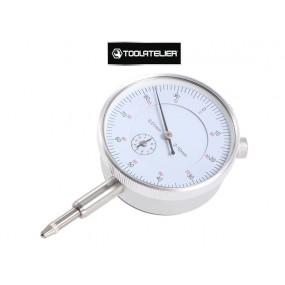 """Comparateur gradué à aiguille 0 à 10 mm avec tige coulissante """"à bille"""" - ToolAtelier®"""
