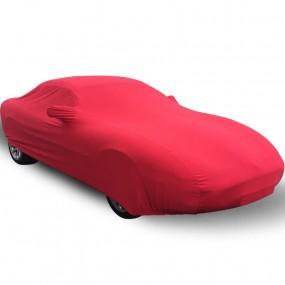 Bâche protection intérieure sur-mesure Jaguar XK8 en Jersey Coverlux - rouge