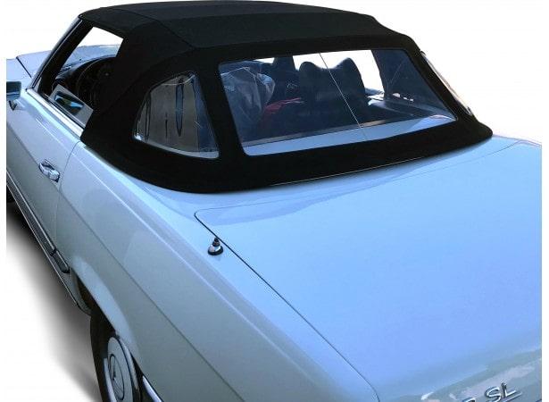 Capote auto Mercedes 280 SL cabriolet type R107 en Alpaga Sonnenland, lunette PVC