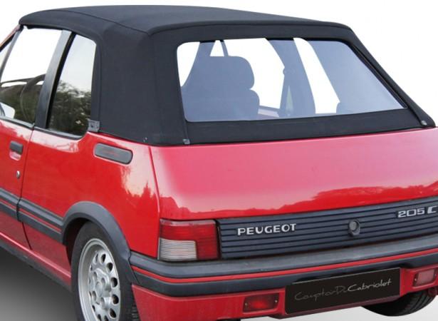 Capote auto Peugeot 205 cabriolet en Alpaga Stayfast avec lunette arrière en PVC