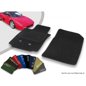 Tapis auto avant sur-mesure Ferrari 355 cabriolet velours bordé