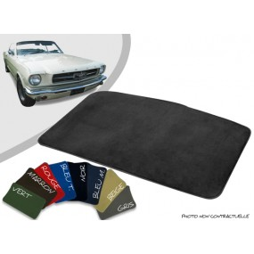 Tapis coffre sur-mesure Ford Mustang 64/66 velours bordé