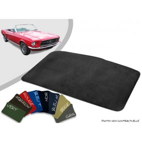 Tapis coffre sur-mesure Ford Mustang 67/68 velours bordé