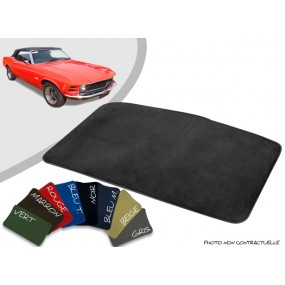 Tapis coffre sur-mesure Ford Mustang 69/70 velours bordé