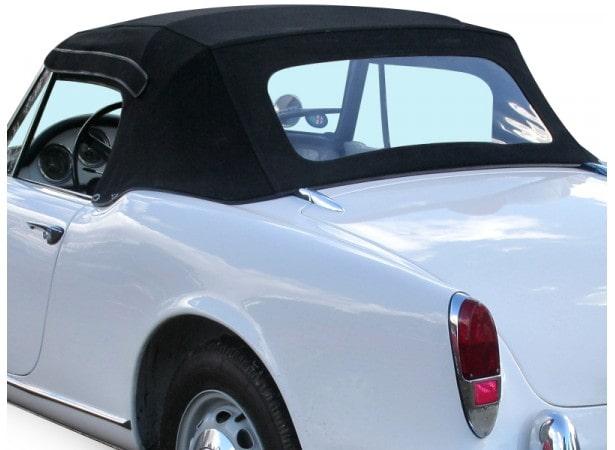 Capotes auto Alfa Romeo Giulia Spider 1600 cabriolet en Alpaga Stayfast avec lunette arriere en PVC