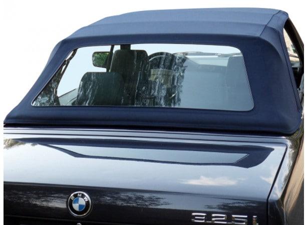 Capotes auto BMW E30 cabriolet en Alpaga Sonnenland avec lunette arriere en PVC