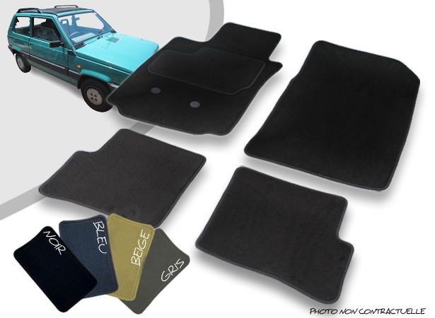 Tapis auto avant et arrière sur-mesure Fiat Panda cabriolet moquette aiguilletée surjetée