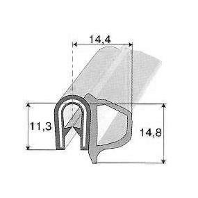 Joint de porte ou de coffre armé avec bourrelet - 11,3 x 14,4 mm