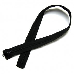 Fermeture éclair noire - 75 cm