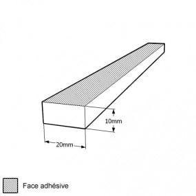Bande caoutchouc cellulaire étanche 10mm x 20mm