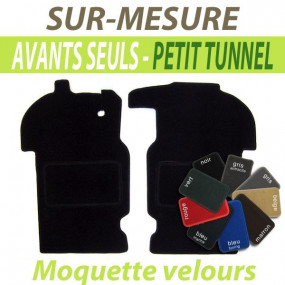 Tapis avants petit tunnel en moquette velours Peugeot 304 cabriolet