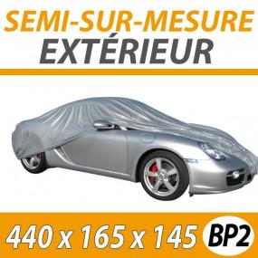 Housse protection auto extérieure universelle en PVC - BASIC PVC - Taille BP2