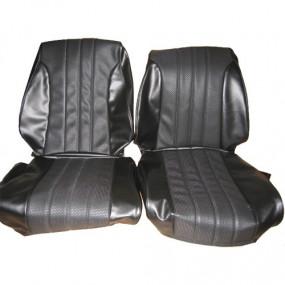 Coiffes sièges avants noirs cannés Peugeot 204