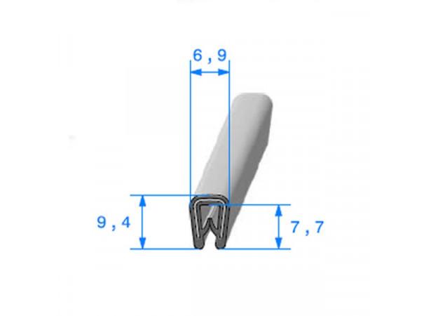 Joint armature métallique avec pince pvc armé (26673)