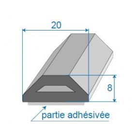 Joint butoir avec adhésif de fixation - 20 x 8 mm