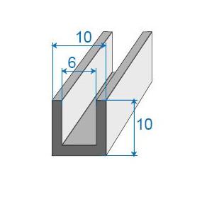 Joint compact en U - 10 x 10 mm