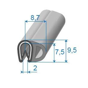 Joint de porte armé - 8.7 x 9.5 mm